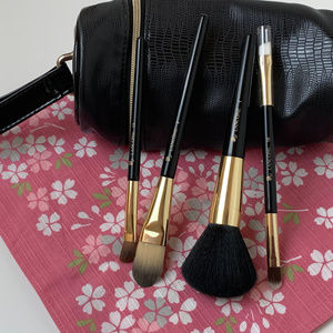 NEW Lancome Brush Set With Zippered Carry Case.